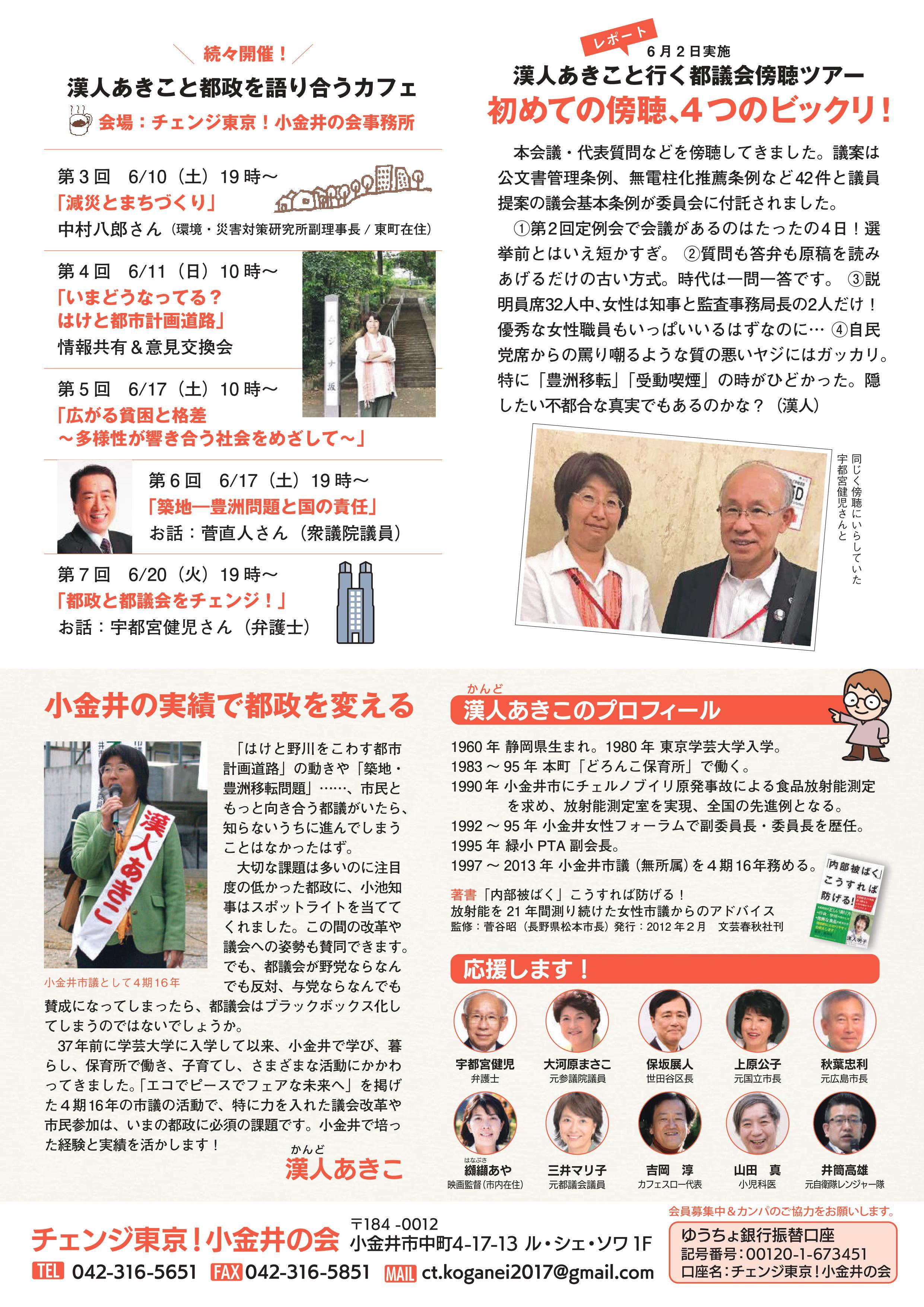 チェンジ東京!小金井の会ニュース 4号-裏