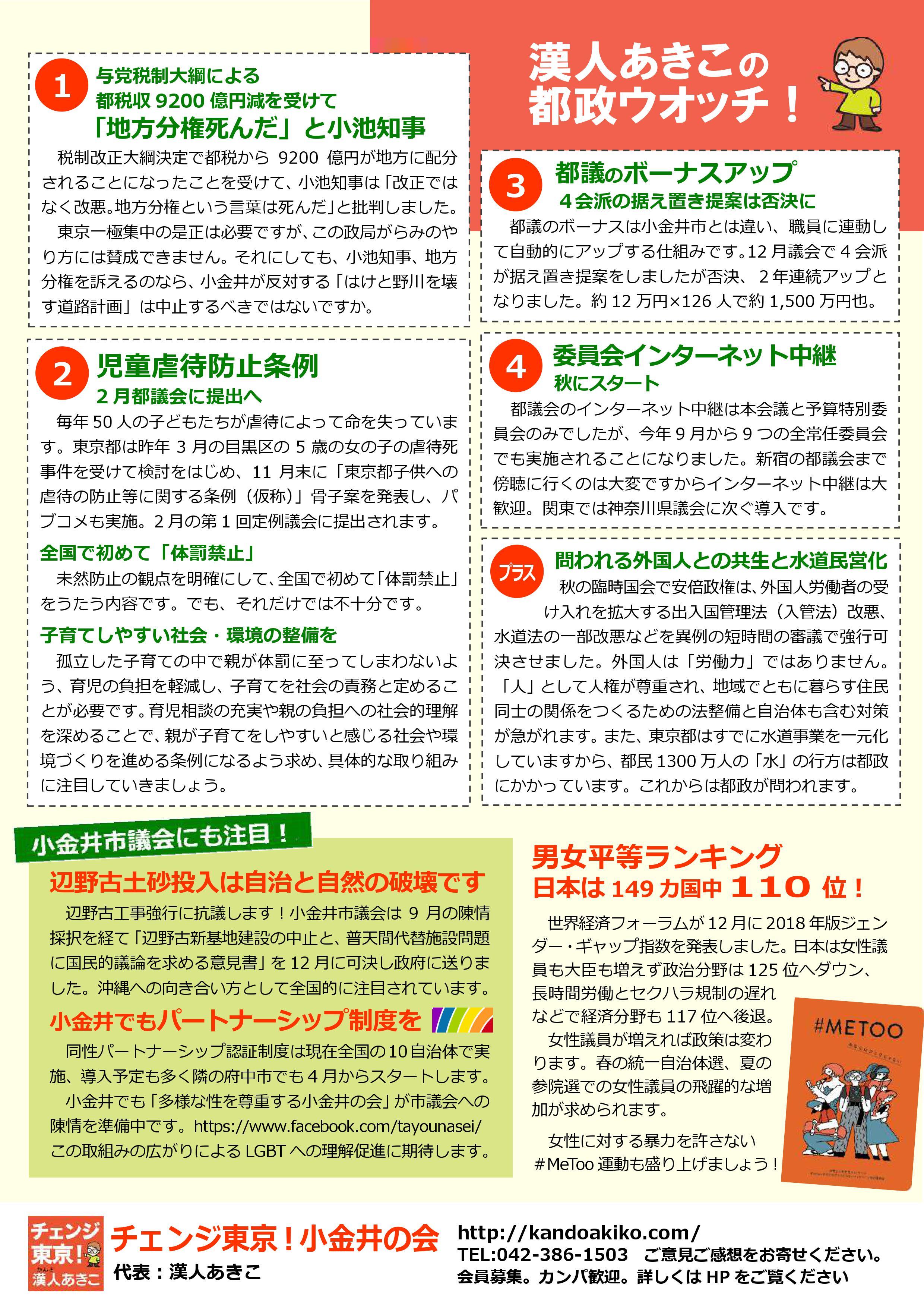 チェンジ東京!小金井の会ニュース 10号-裏