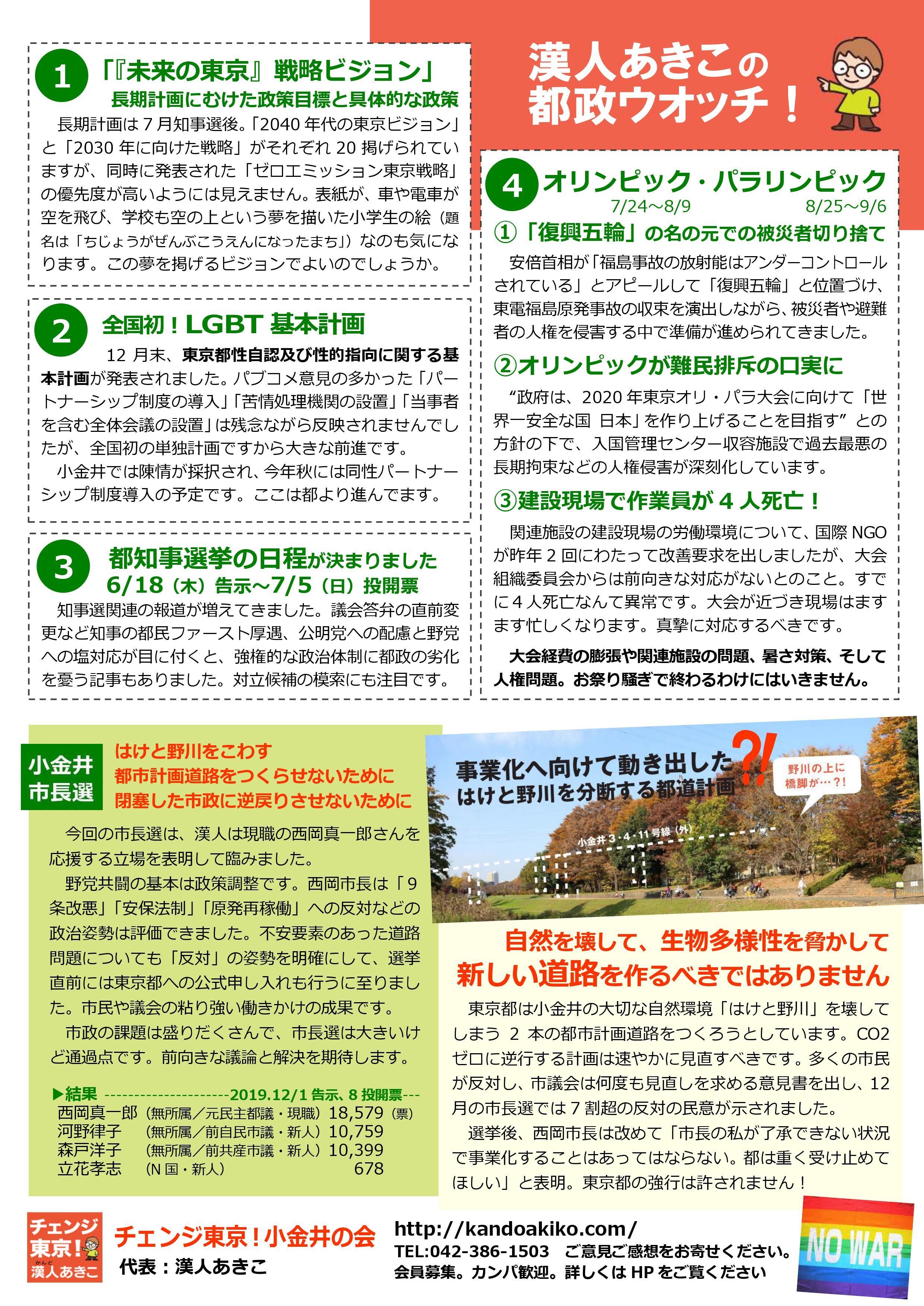 チェンジ東京!小金井の会ニュース 12号-裏